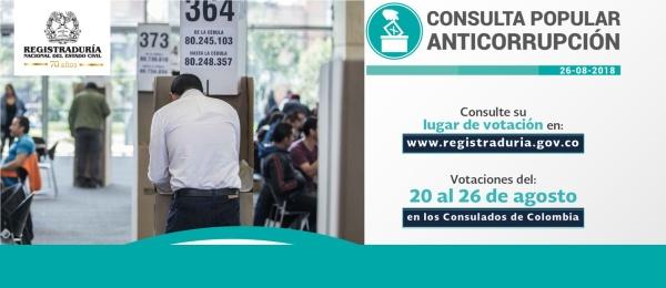 El Consulado de Colombia en Frankfurt publica las actas de designación de jurados, delegados y puestos de votación para la Consulta Anticorrupción