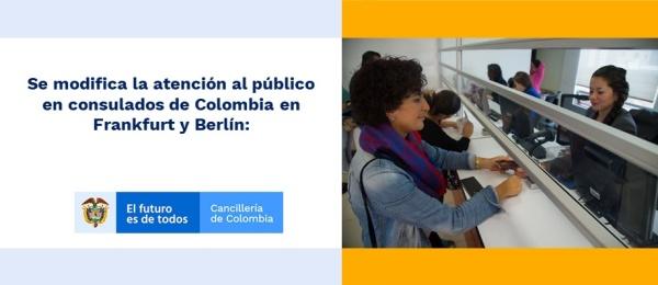 Se modifica la atención al público en consulados en Frankfurt y Berlín: